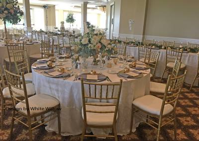 Light Gold Chiavari Chair Rentals by Beyond Elegance