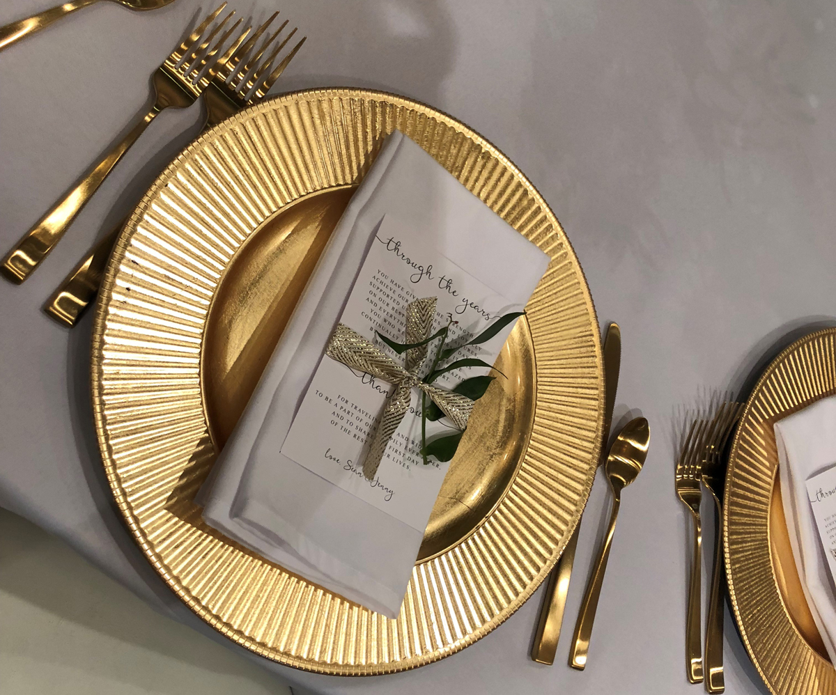 Gold-Flatware-Rental by Beyond Elegance