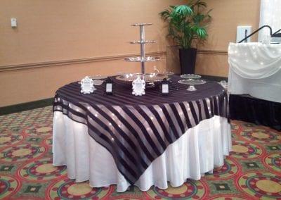 Cake Table Linen Decor