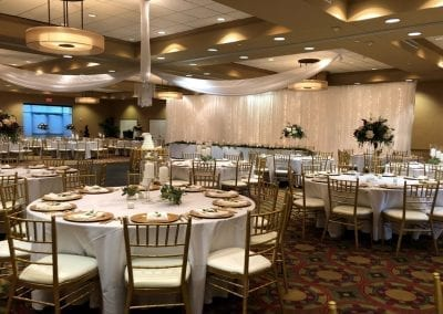 Gold Chiavari Chairs for Rent by Beyond Elegance