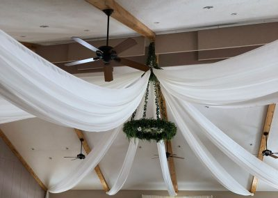 Ceiling Draping at The Chateau Winery by Beyond Elegance