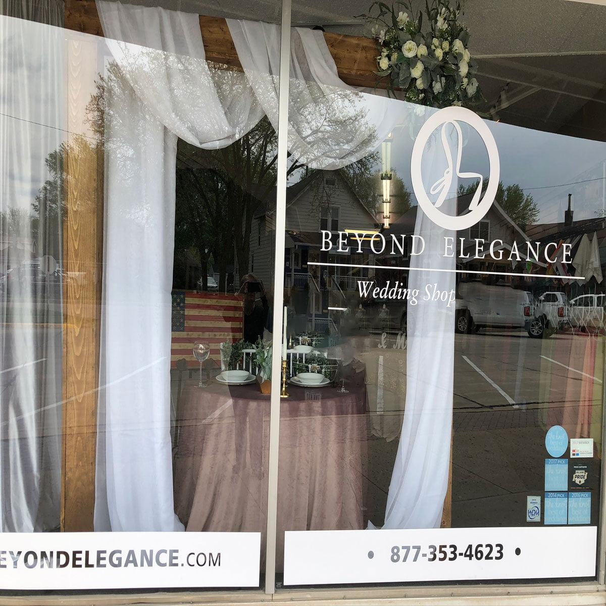 Beyond Elegance Event Rentals Showroom